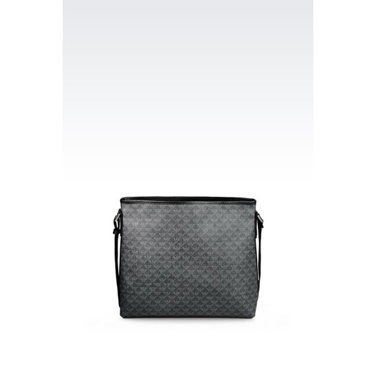 ARMANI SHOULDER BAG IN LOGOED PVC