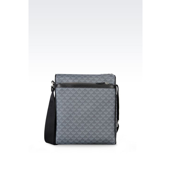 ARMANI SHOULDER BAG IN LOGO PATTERNED PVC