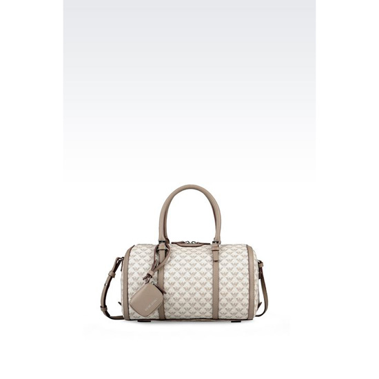 ARMANI SMALL BAULETTO BAG IN LOGO PATTERNED PVC