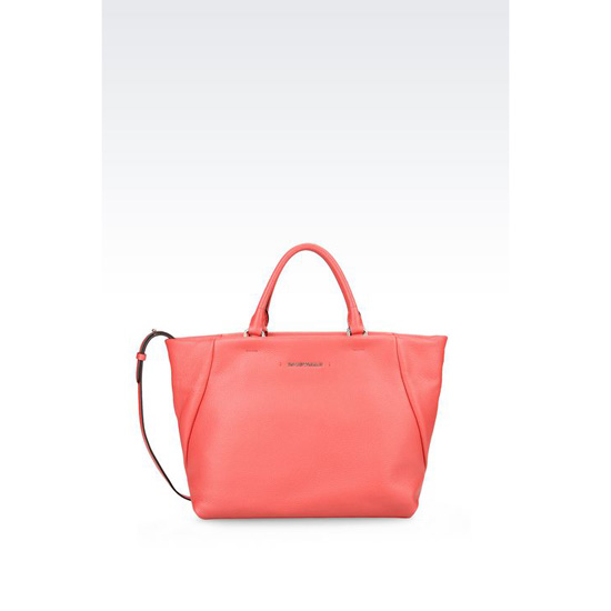 ARMANI CALFSKIN TOTE WITH SHOULDER STRAP