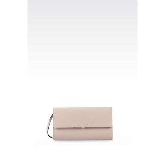 ARMANI CLUTCH IN SAFFIANO WITH CHAIN STRAP