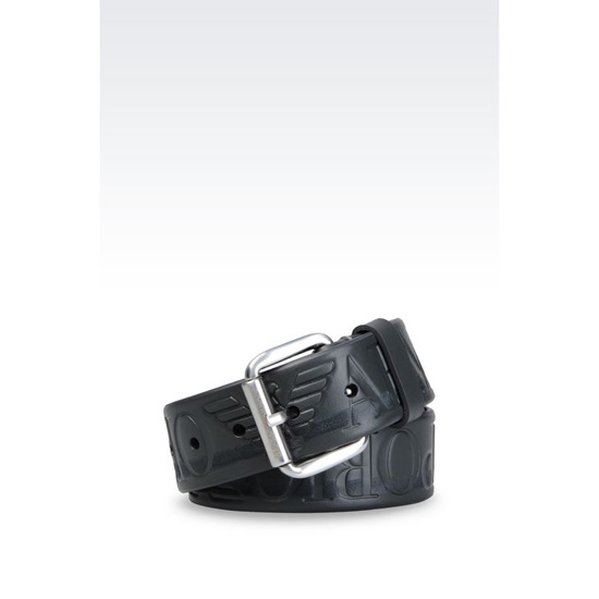 ARMANI LOGOED LEATHER BELT