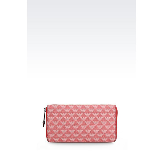 ARMANI ZIP-AROUND WALLET IN LOGOED PVC