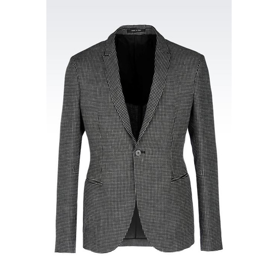 ARMANI JACKET IN OPTICAL PATTERN LINEN