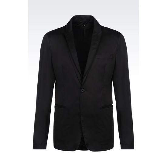 ARMANI RUNWAY JACKET IN STRETCH COTTON