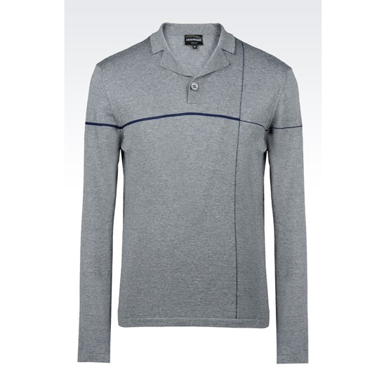 ARMANI POLO SHIRT IN VIRGIN WOOL