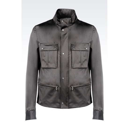 ARMANI BLOUSON IN TECHNICAL SILK