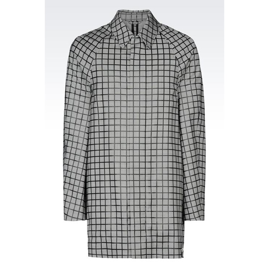 ARMANI TRENCH IN HOUNDSTOOTH VIRGIN WOOL