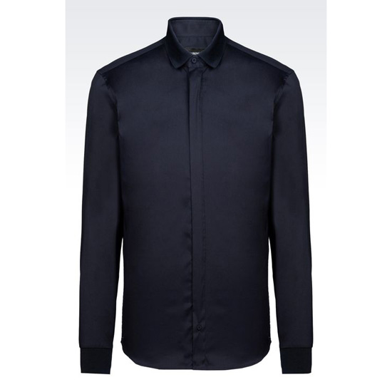 ARMANI SHIRT IN STRETCH COTTON POPLIN