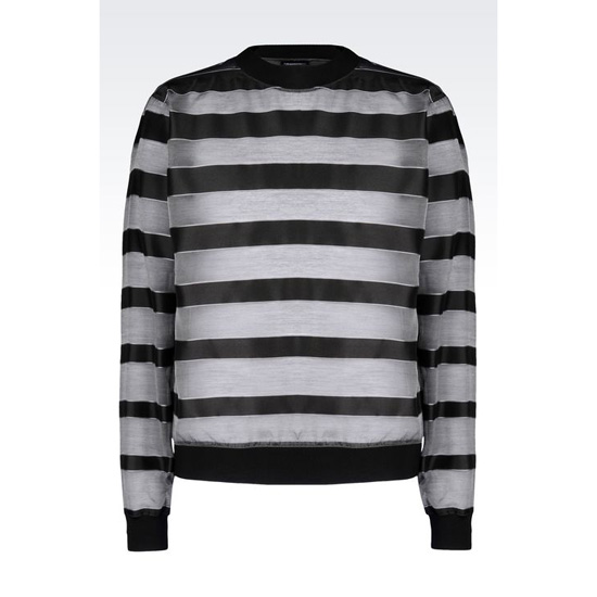 ARMANI RUNWAY SHIRT IN STRIPED SILK BLEND