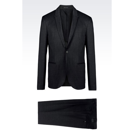 ARMANI SINGLE-BREASTED SUIT IN PINSTRIPE WOOL