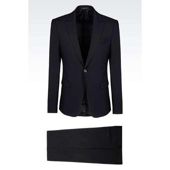 ARMANI SINGLE-BREASTED SUIT IN STRETCH WOOL