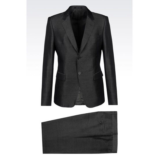 ARMANI SUIT IN LINEN AND SILK
