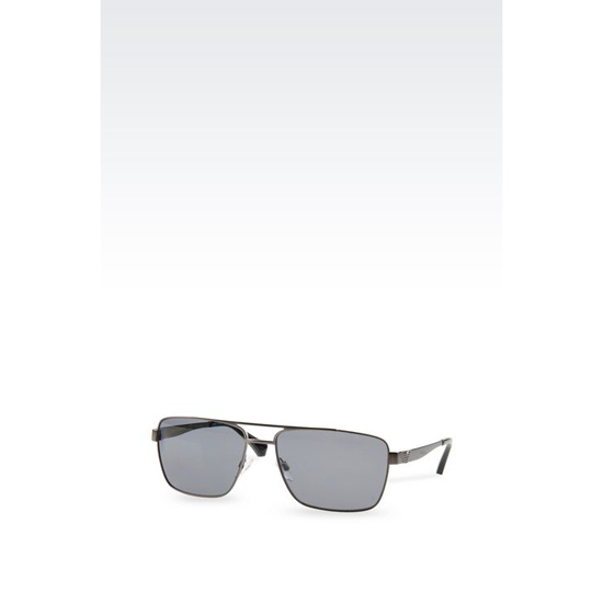 ARMANI METAL SUNGLASSES WITH SQUARE LENSES