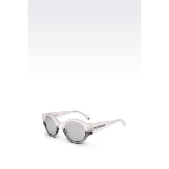 ARMANI SUNGLASSES IN ACETATE WITH ROUND LENSES