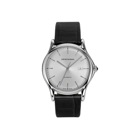 ARMANI SWISS MADE AUTOMATIC WATCH WITH ALLIGATOR STRAP