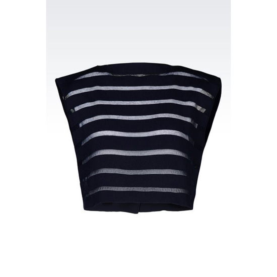 ARMANI RUNWAY TOP IN STRIPED KNIT