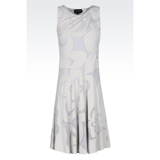ARMANI DRESS IN BURNT-OUT JACQUARD