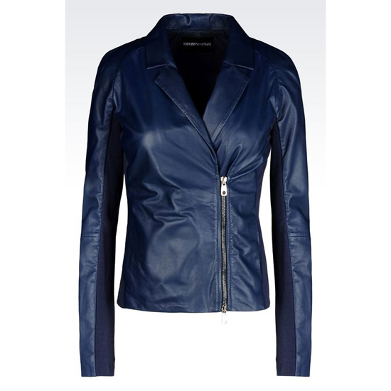 ARMANI DOUBLE-BREASTED JACKET IN NAPA LAMBSKIN
