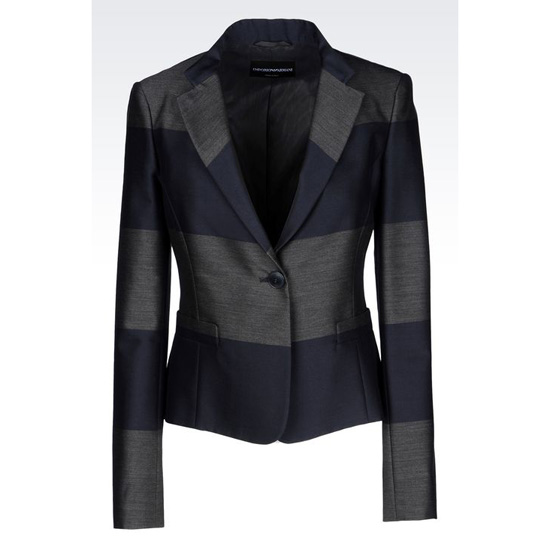 ARMANI JACKET IN STRIPED WOOL BLEND