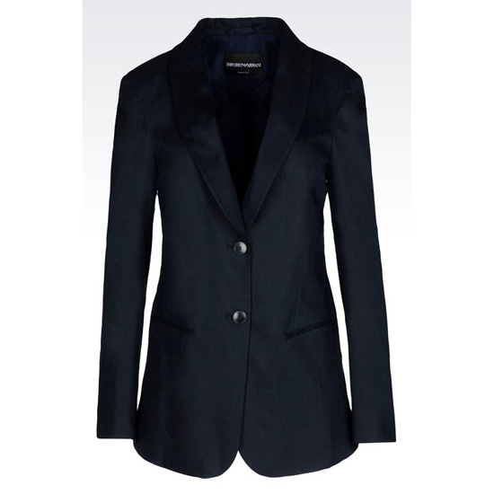 ARMANI JACKET IN STRETCH LINEN BLEND