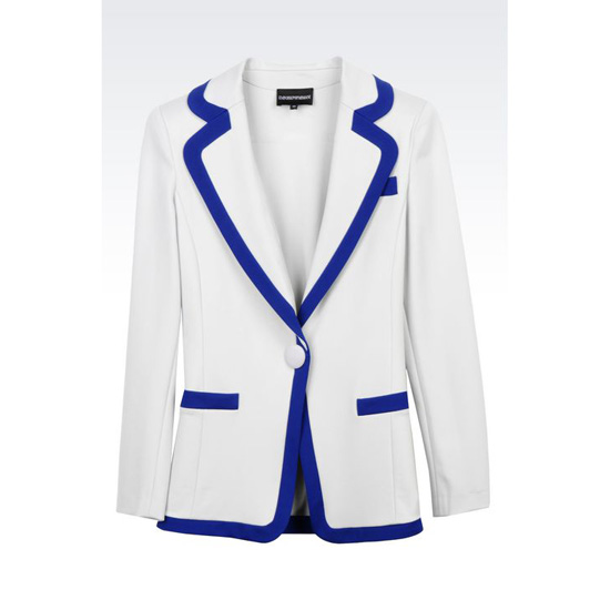 ARMANI RUNWAY JACKET IN STRETCH VISCOSE INTERLOCK