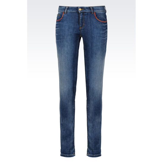 ARMANI SUPER SKINNY MEDIUM WASH JEANS