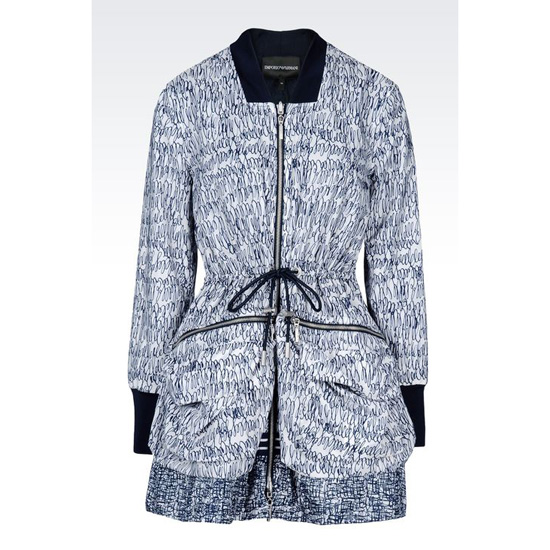 ARMANI REVERSIBLE RAIN COAT IN PRINTED NYLON