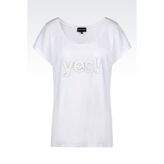 ARMANI T-SHIRT IN STRETCH JERSEY WITH NEOPRENE PRINT