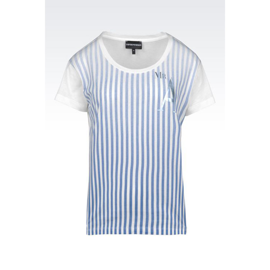 ARMANI JERSEY T-SHIRT WITH SHADED STRIPES