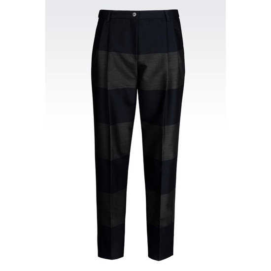 ARMANI MACRO-STRIPE ANKLE CUT TROUSERS