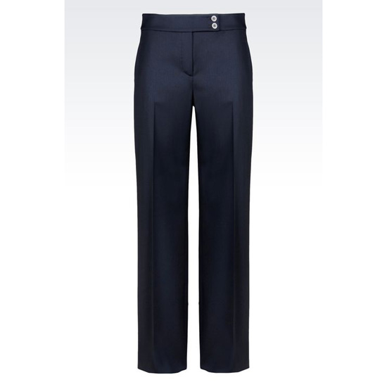 ARMANI PALAZZO PANTS IN STRETCH WOOL