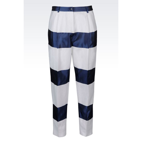 ARMANI RUNWAY TROUSERS IN STRIPED COTTON BLEND