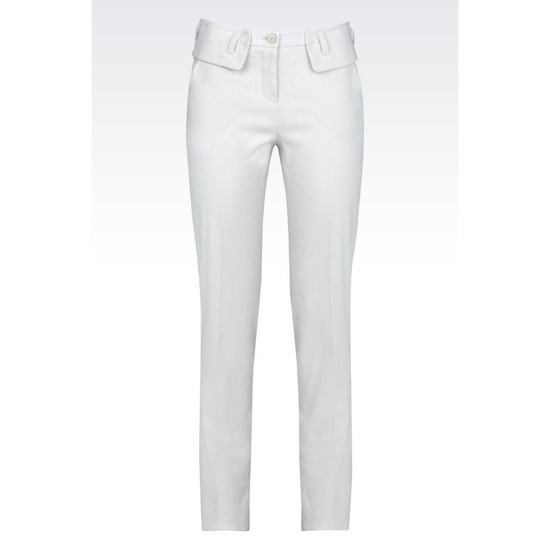 ARMANI TROUSERS IN STRETCH LINEN BLEND