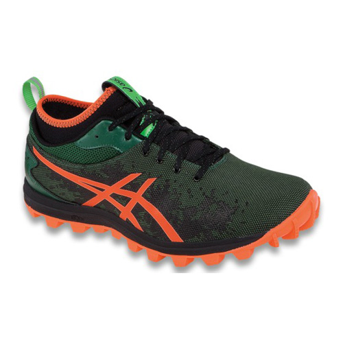 Men's ASICS GEL-FUJIRUNNEGADE™ 8030 - Dark Green/Flash Orange/Black