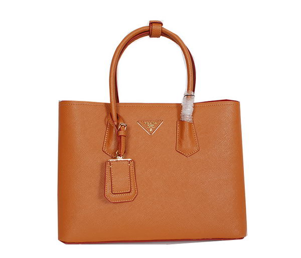Prada Original Saffiano Cuir Leather Tote Bag BN3291 Wheat