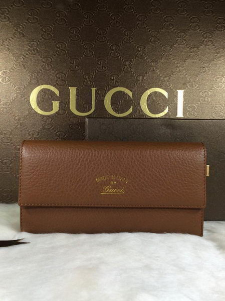 Gucci Swing Leather Continental Wallet 354496 Wheat