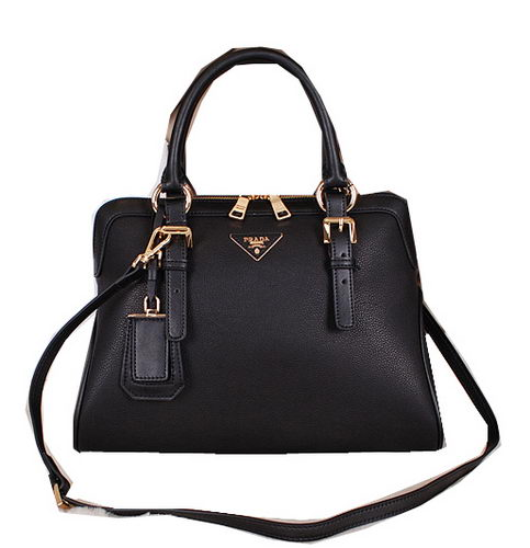 Prada Calfskin Leather Tote Bag BN1093 Black