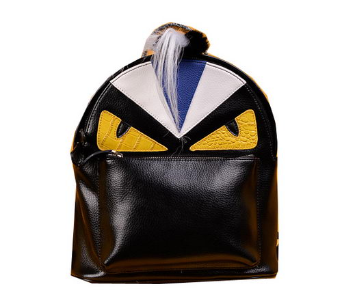 Fendi Selleria Backpacks Original Leather F2220 Black