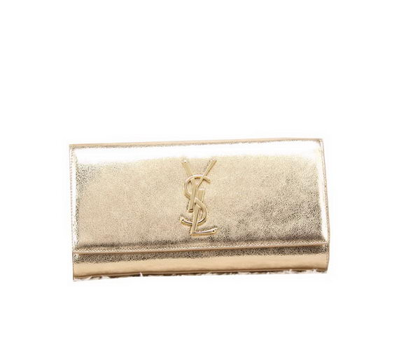 YSL Classic Monogramme Clutch Bag Smooth Leather Y8909 Gold