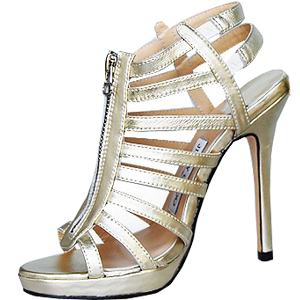 Jimmy Choo circus cutout strapy sandals light golden