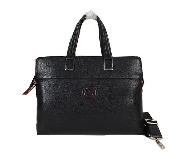 Gucci Smooth Leather Business Briefcase BN2916 Black