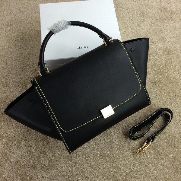 2015 Celine Trapeze Bag Original Leather CL008 Black