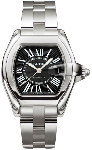 Cartier Roadster Series Stainless Steel Mens Automatic Wristwatch-W62041V3