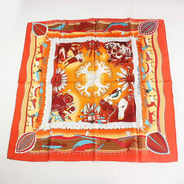 Hermes Scarves Silk Broadcloth WJH049 Red