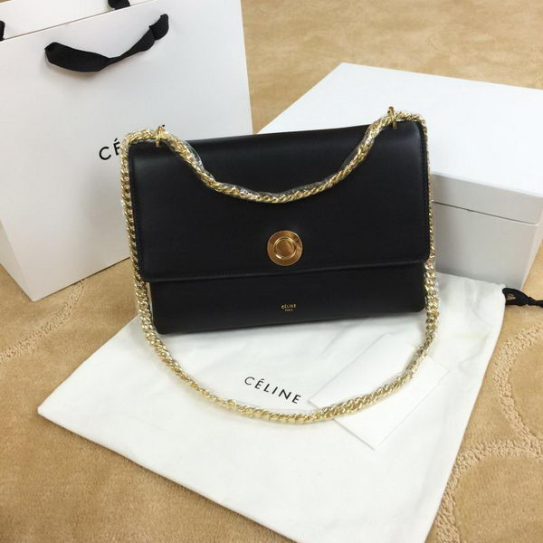 Celine Pocket Flap Bag Original Leather C96556 Black