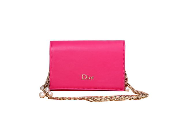Dior Smooth Leather Flap Shoulder Bags CD0915 Rose