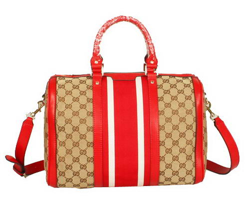 New Color Gucci 247205 FW9IG 8502 Vintage Web Boston Bag