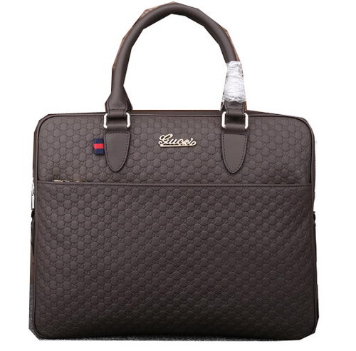 Gucci Guccissima Leather Business Briefcase G88091 Brown