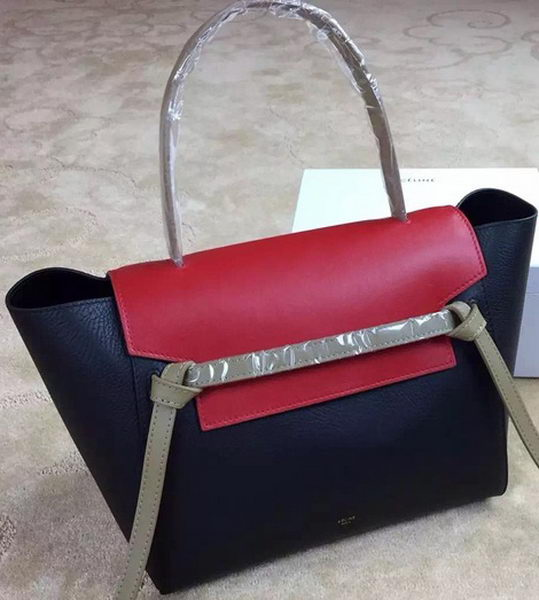 Celine Belt Bag Original Leather CLA98312 Black&Red